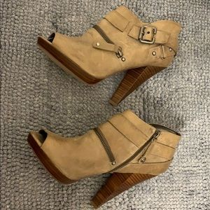 Guess open-toe booties.  Never worn. 8.5 size.